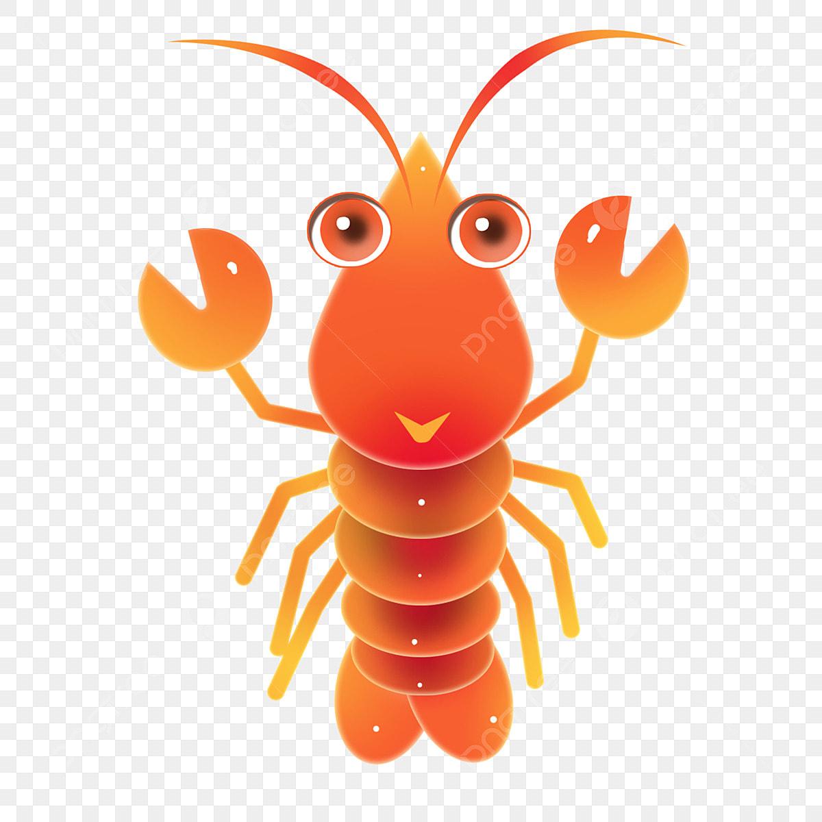 Udang Galah Udang Karang Kartun Udang Lobster Makanan Laut