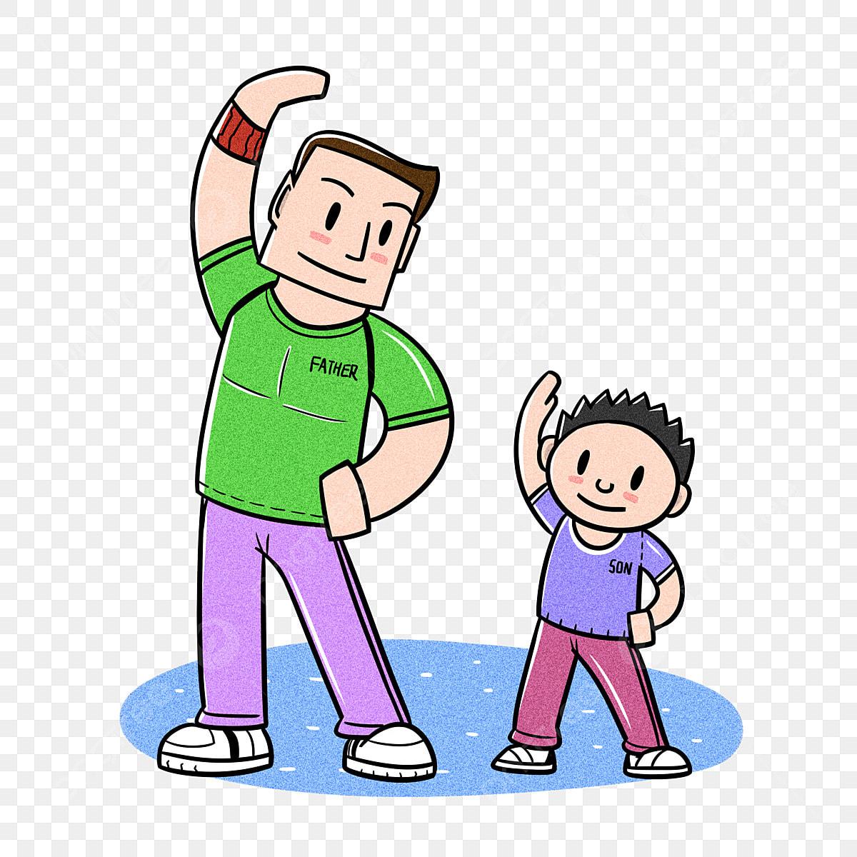 Kartun Hari Bapa Bapa Dan Anak Bapa Kartun Dan Anak Bawah