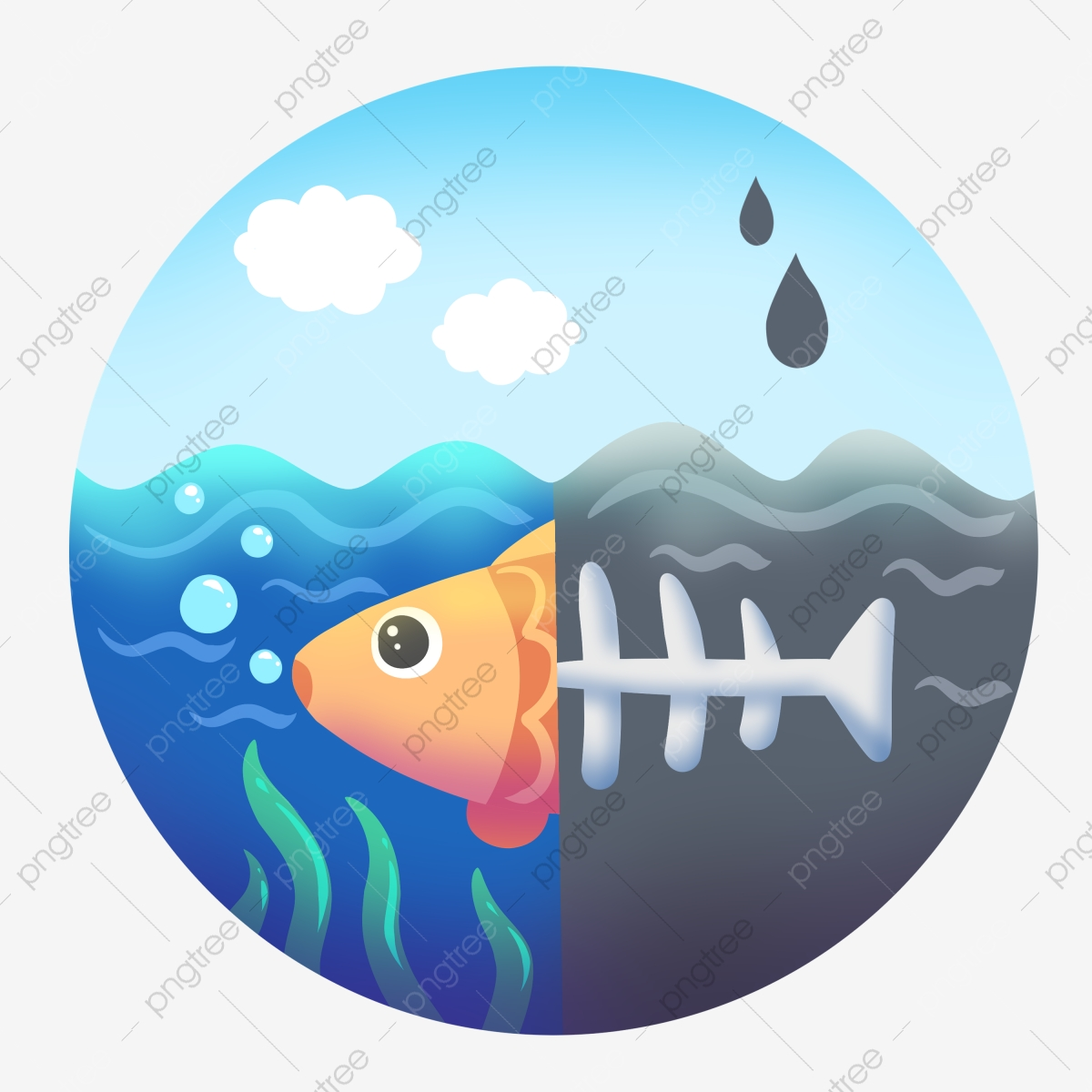 Cartoon Illustration Of Water Pollution Water Pollution Illustration Environmental Protection Illustration Cartoon Illustration Png Transparent Clipart Image And Psd File For Free Download