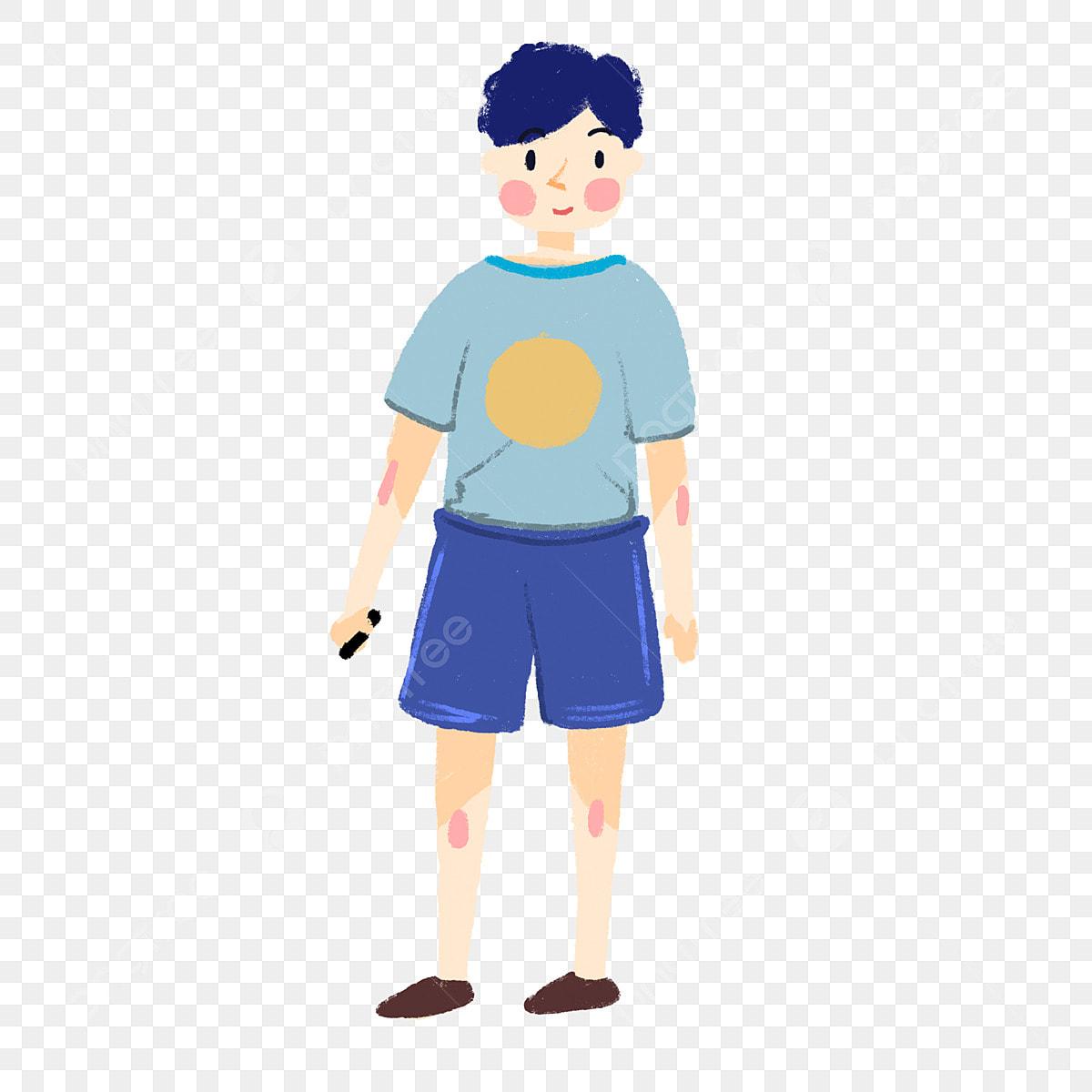 Dibujos Animados Hombre Camiseta Pantalones Cortos Shorts Camiseta De Png Y Psd Para Descargar Gratis Pngtree