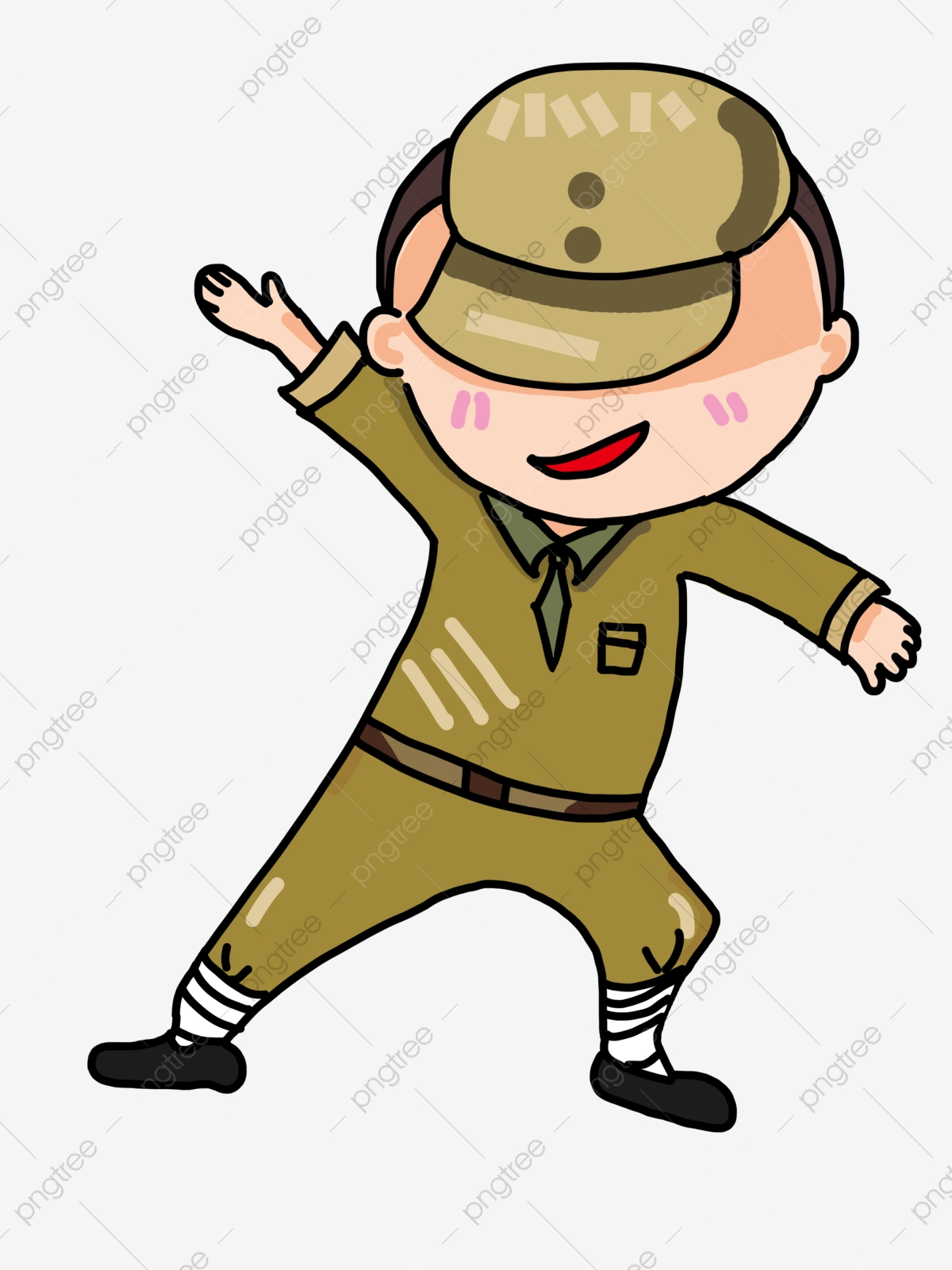 Soldat Du Dessin Animé Soldat Militaire Soldat Mignon