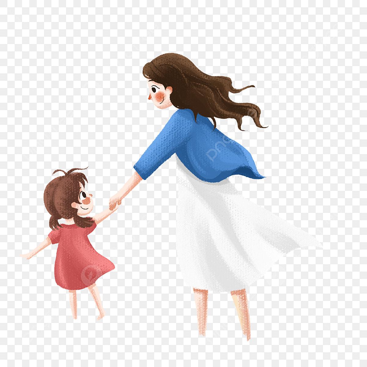 Gambar Hari Ibu Ibu Dan Anak Perempuan Ibu Dan Anak Kartun ...
