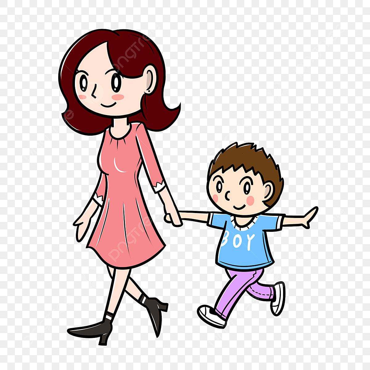Kartun Hari Ibu Ibu Dan Anak Ibu Dan Anak Kartun Hari Ibu