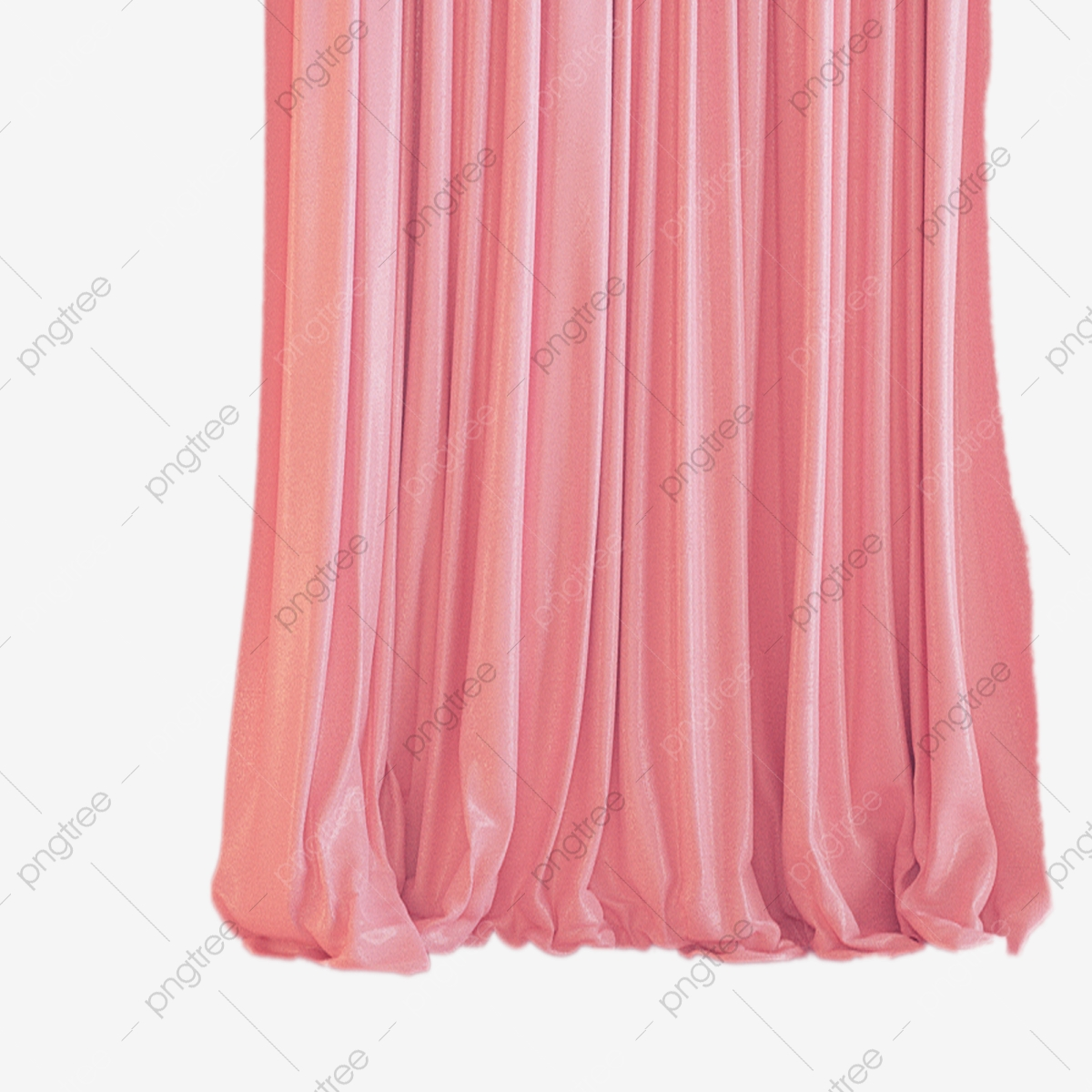 Cartoon Pink Home Curtain