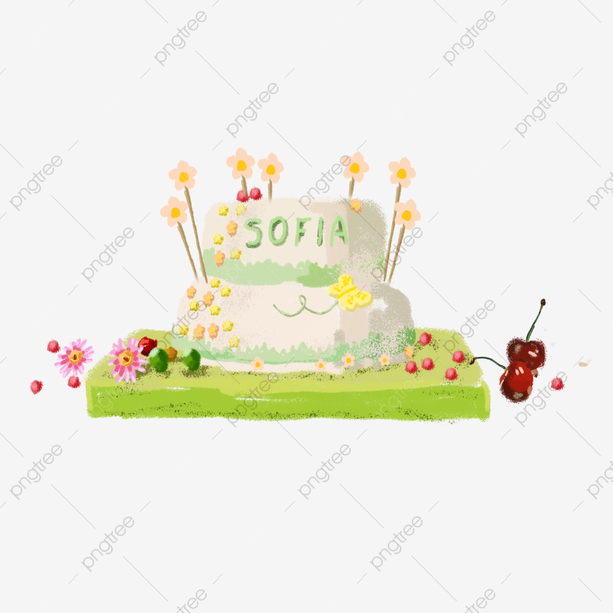 Amazing Cartoon Pretty Birthday Cake Free Illustration Cartoon Delicious Personalised Birthday Cards Veneteletsinfo