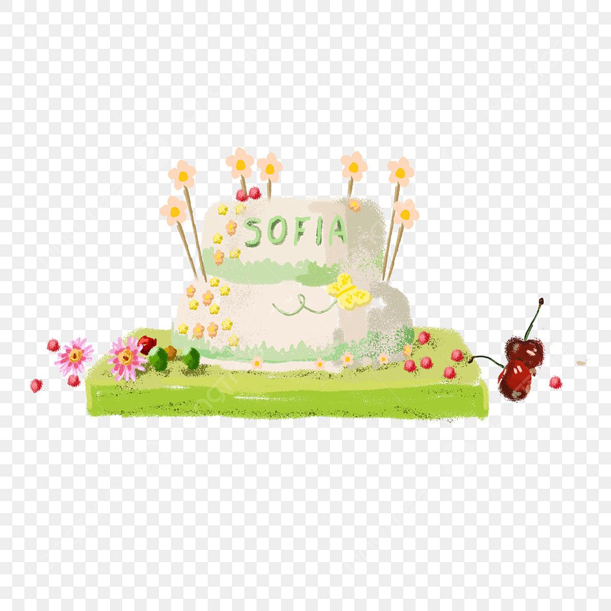 Marvelous Cartoon Pretty Birthday Cake Free Illustration Cartoon Delicious Funny Birthday Cards Online Fluifree Goldxyz