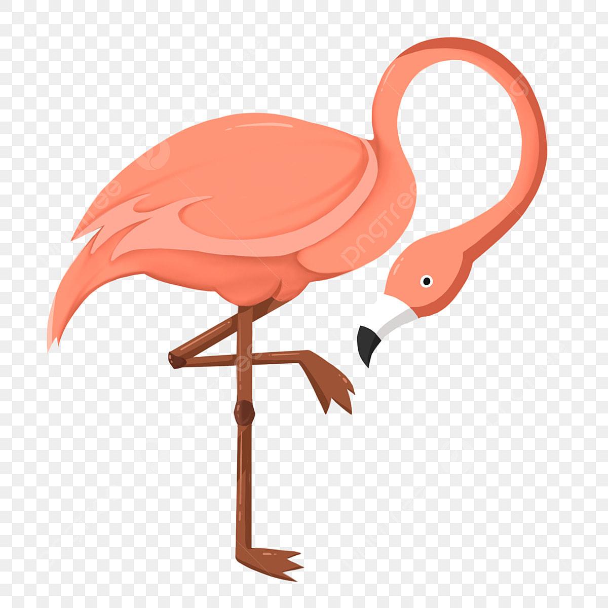 Oiseau De Jeu De Dessin Animé Beau Flamant Rose Animal