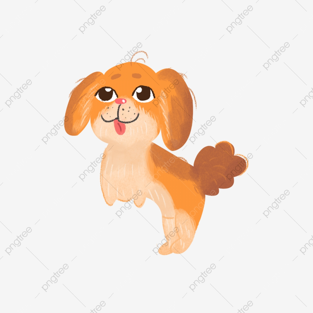 Cartoon Puppy Png Download Cartoon Dog Little Yellow Dog Cute