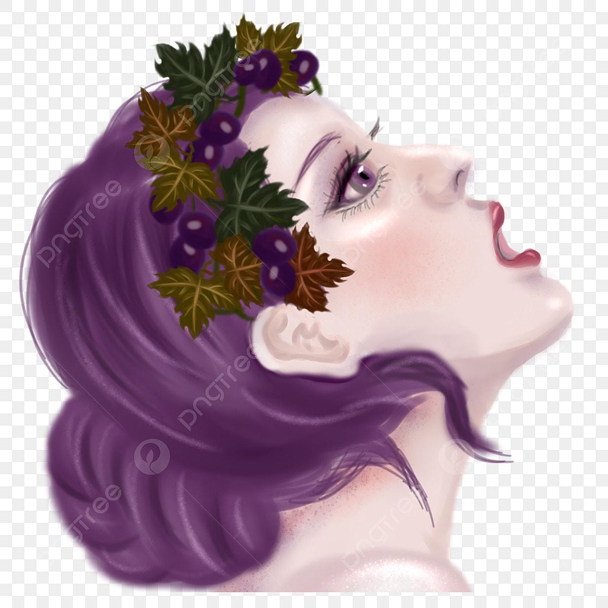 Kartun Kecantikan Gambar Percuma Wanita Cantik Memakai Bunga