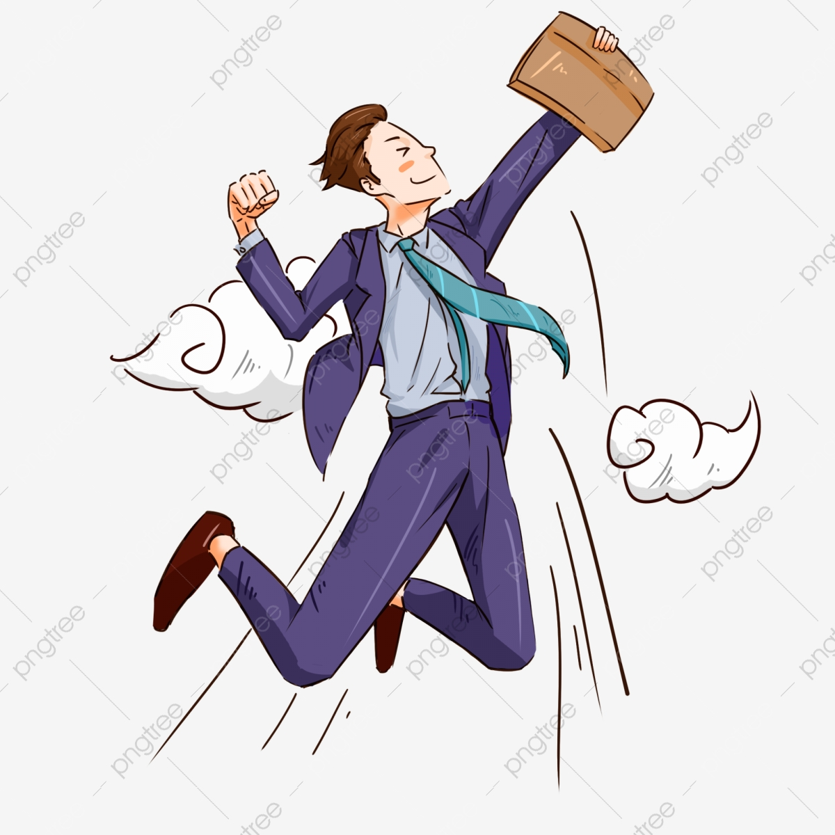 Cartoon Recruiting Success Person Illustration Recruiting Successful Characters Inspirational Blue Suits Png Transparent Clipart Image And Psd File For Free Download