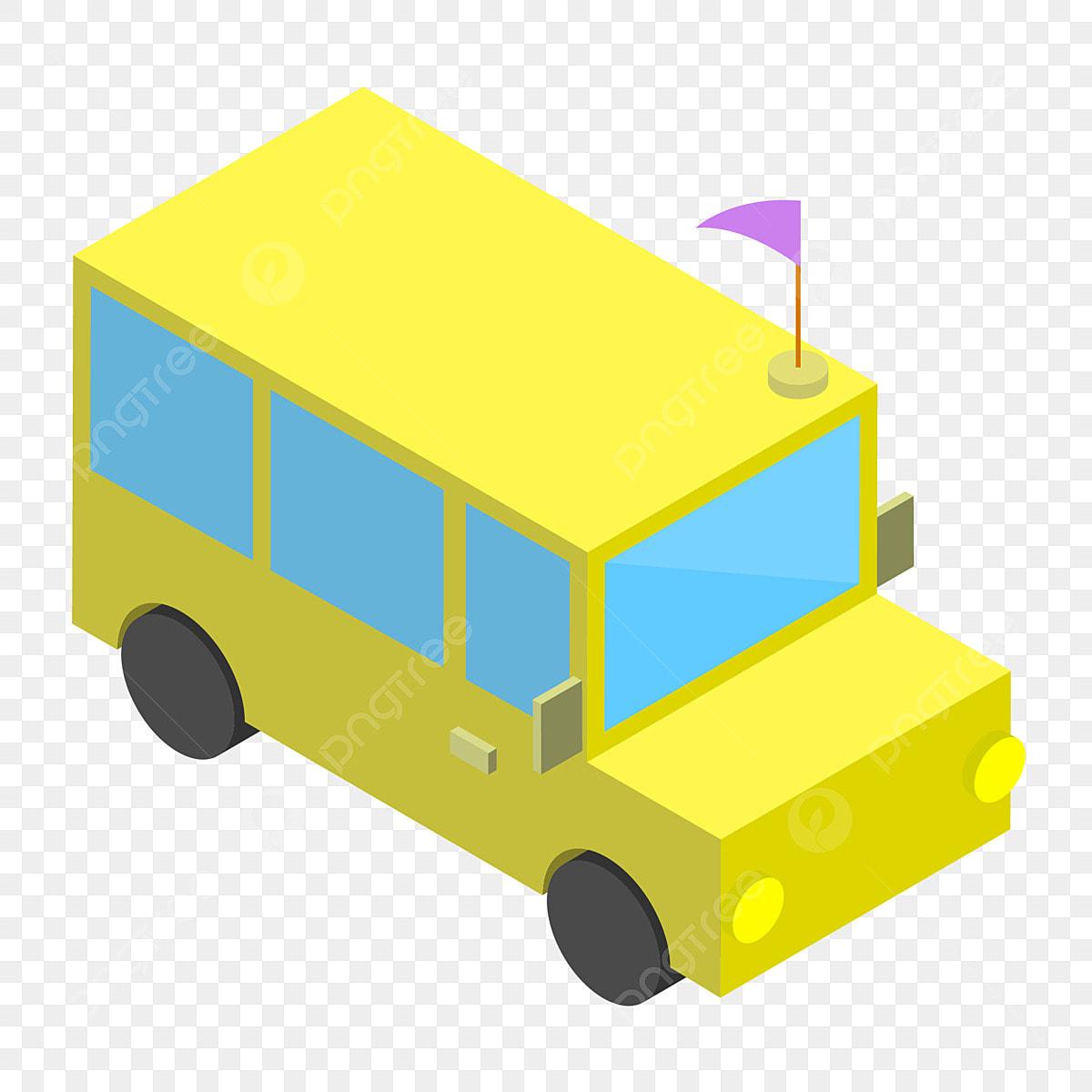 Dessin Animé Autobus Scolaire Jaune Illustration école