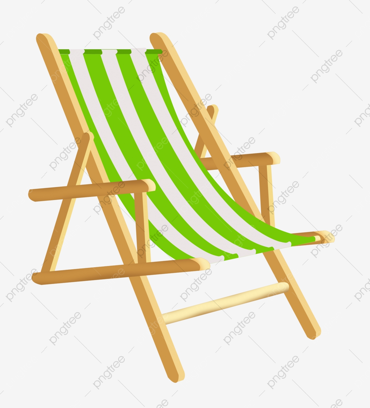 Chaise Lounge Chair Cartoon