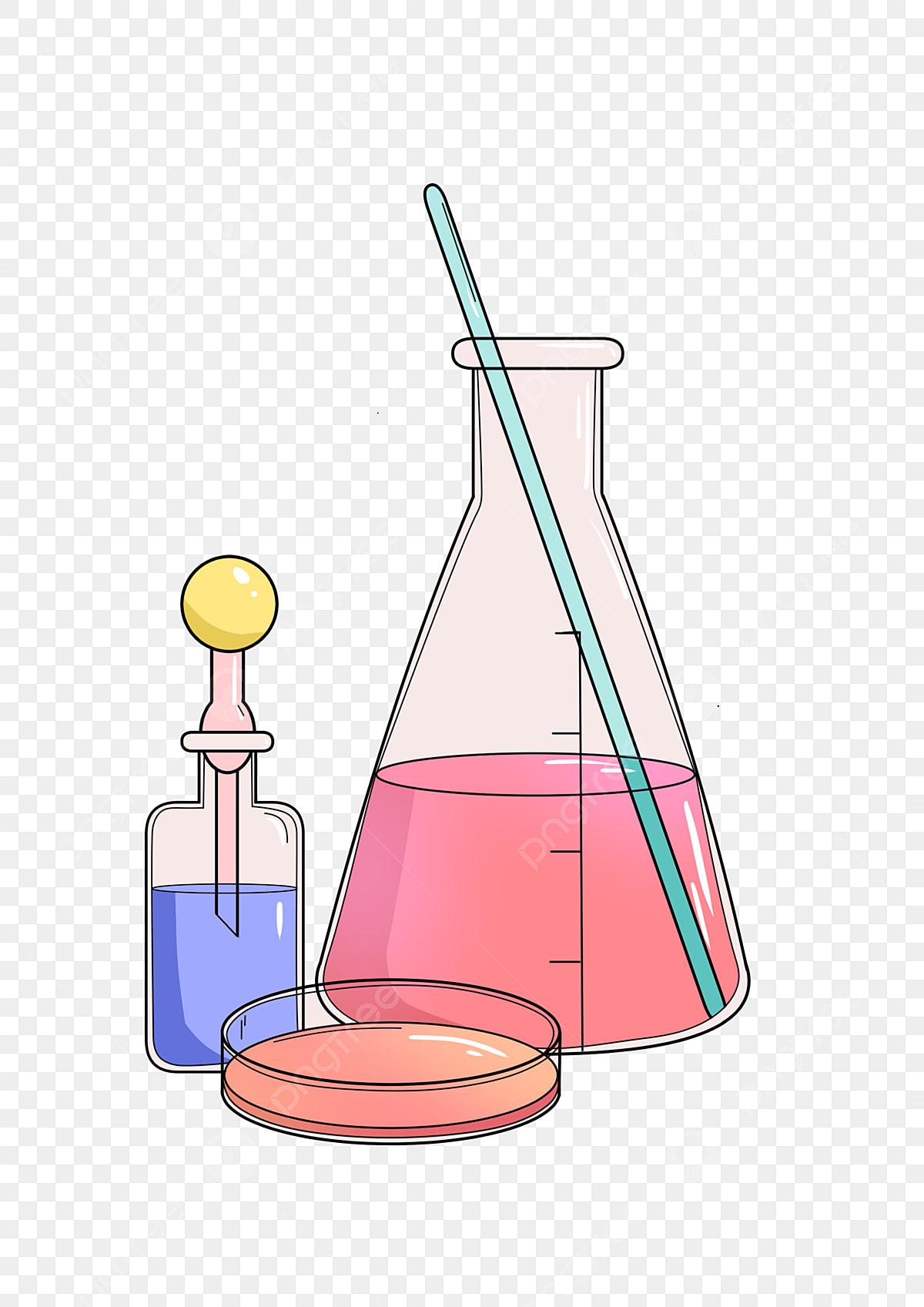 الكيمياء قارورة مخروطية مقايسة الكيميائية قارورة قارورة مخروطية الكرتون Png وملف Psd للتحميل مجانا