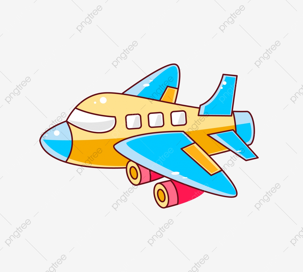 Cartoon Plane Png Vector Psd And Clipart With Transparent Background For Free Download Pngtree