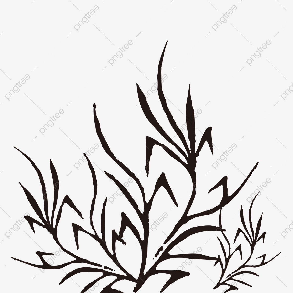Chinese Style Black Minimalist Grass Grass Clipart Black And White Chinese Style Grass Black Png Transparent Clipart Image And Psd File For Free Download