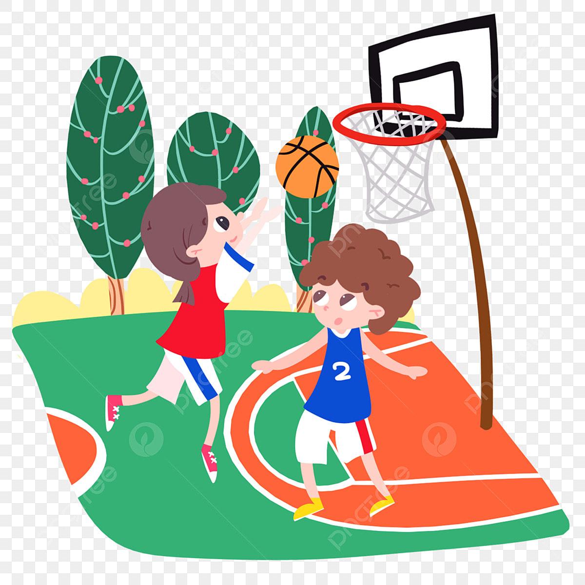 Gambar Kartun Permainan Bola Basket