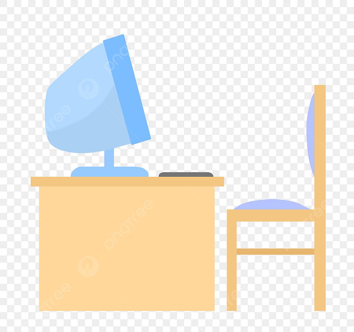 - Computer Desk Stool, Wooden, Table, Computer PNG Transparent