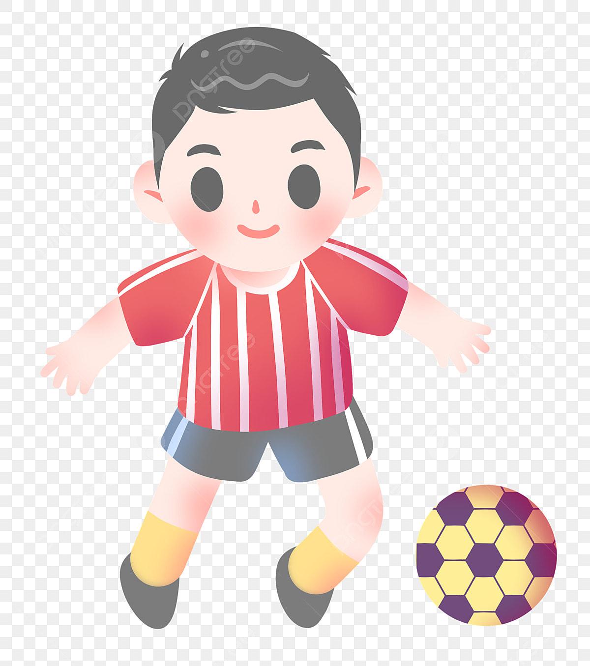 Gambar Budak Lelaki Lucu Bermain Ilustrasi Bola Sepak Budak Comel Budak Bola Sepak Lelaki Comel Png Dan Psd Untuk Muat Turun Percuma