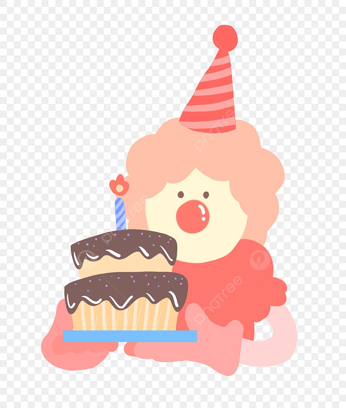 Prime Cute Clown Holding A Birthday Cake Birthday Cake Party Funny Birthday Cards Online Inifodamsfinfo