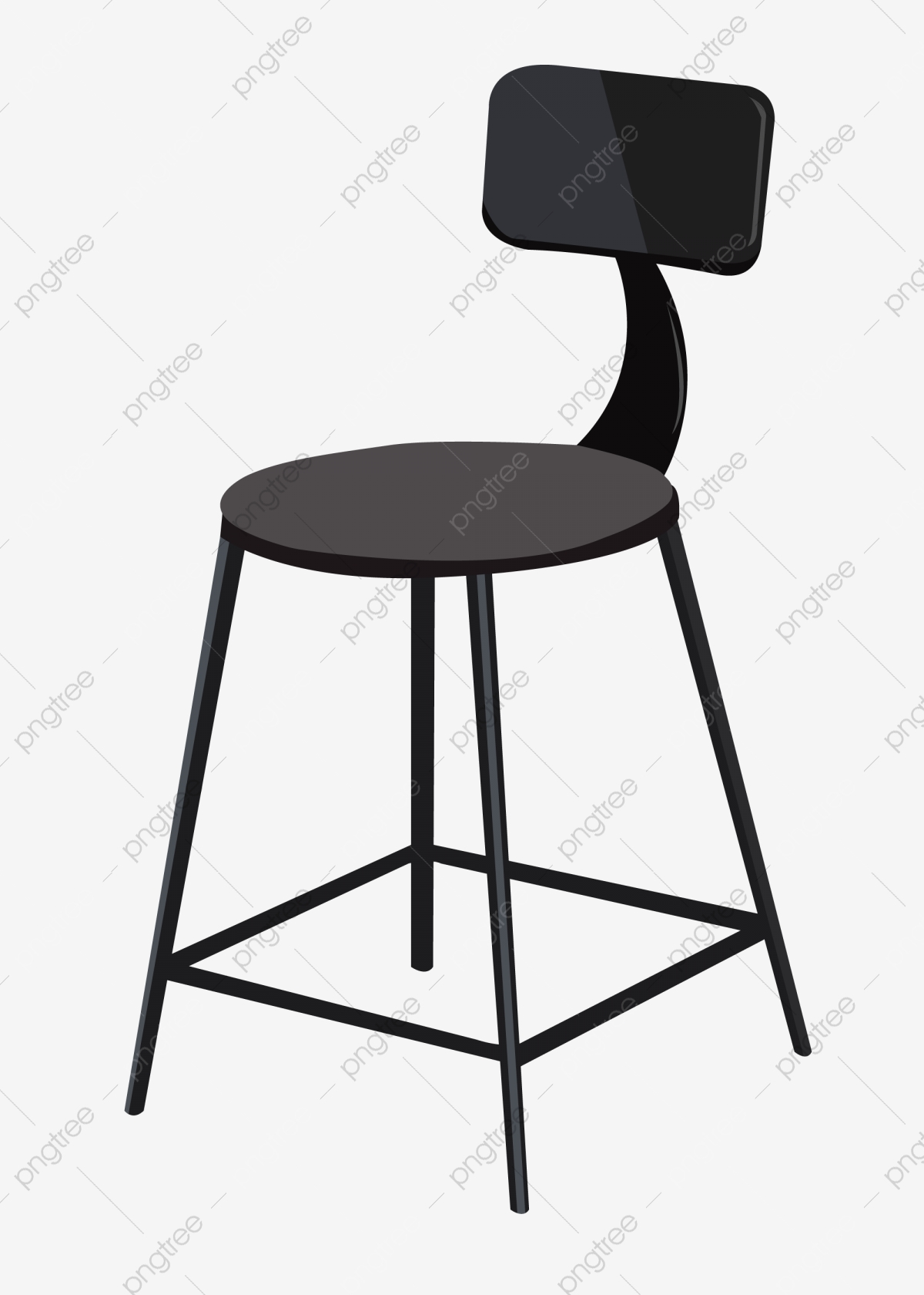 Cute Stool Illustration Wooden Retro Png And Vector With Transparent Background For Free Download