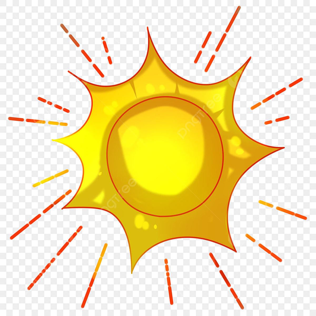 Matahari Kartun Matahari Merah Sinar Matahari Lukisan
