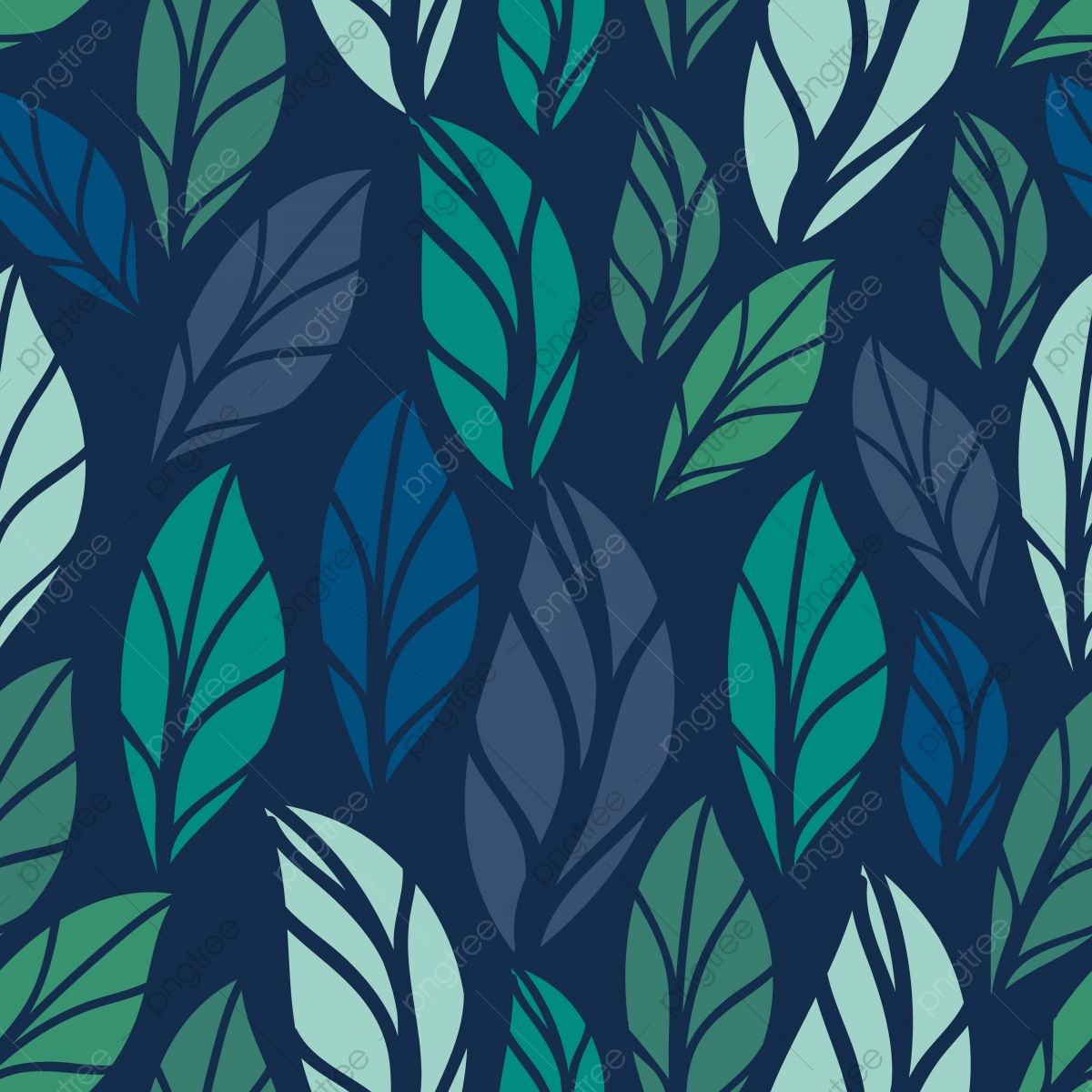 Floral Seamless Pattern Foliage Seamless Pattern Design With
