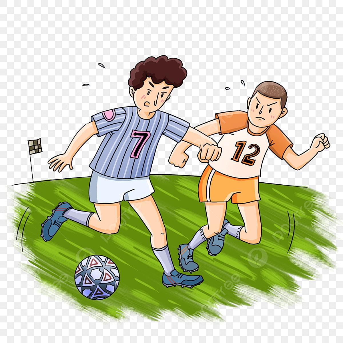 Gambar Pertandingan Sepak Bola Olahraga Istirahat Bola Karakter Kartun Perlawanan Bola Sepak Sukan Rehat Bola Png Dan Psd Untuk Muat Turun Percuma