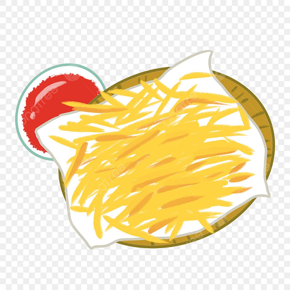 Makanan Ringan Goreng Perancis Ilustrasi Kartun Ilustrasi Makanan
