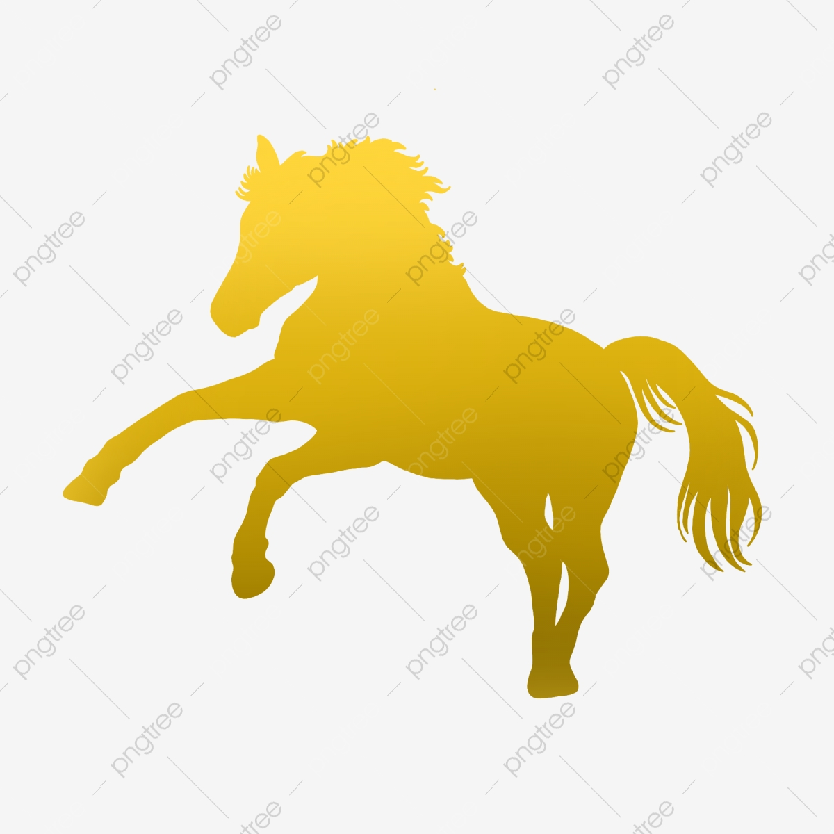 Golden Gradient Running Horse Gold Warm Yellow Png Transparent Clipart Image And Psd File For Free Download