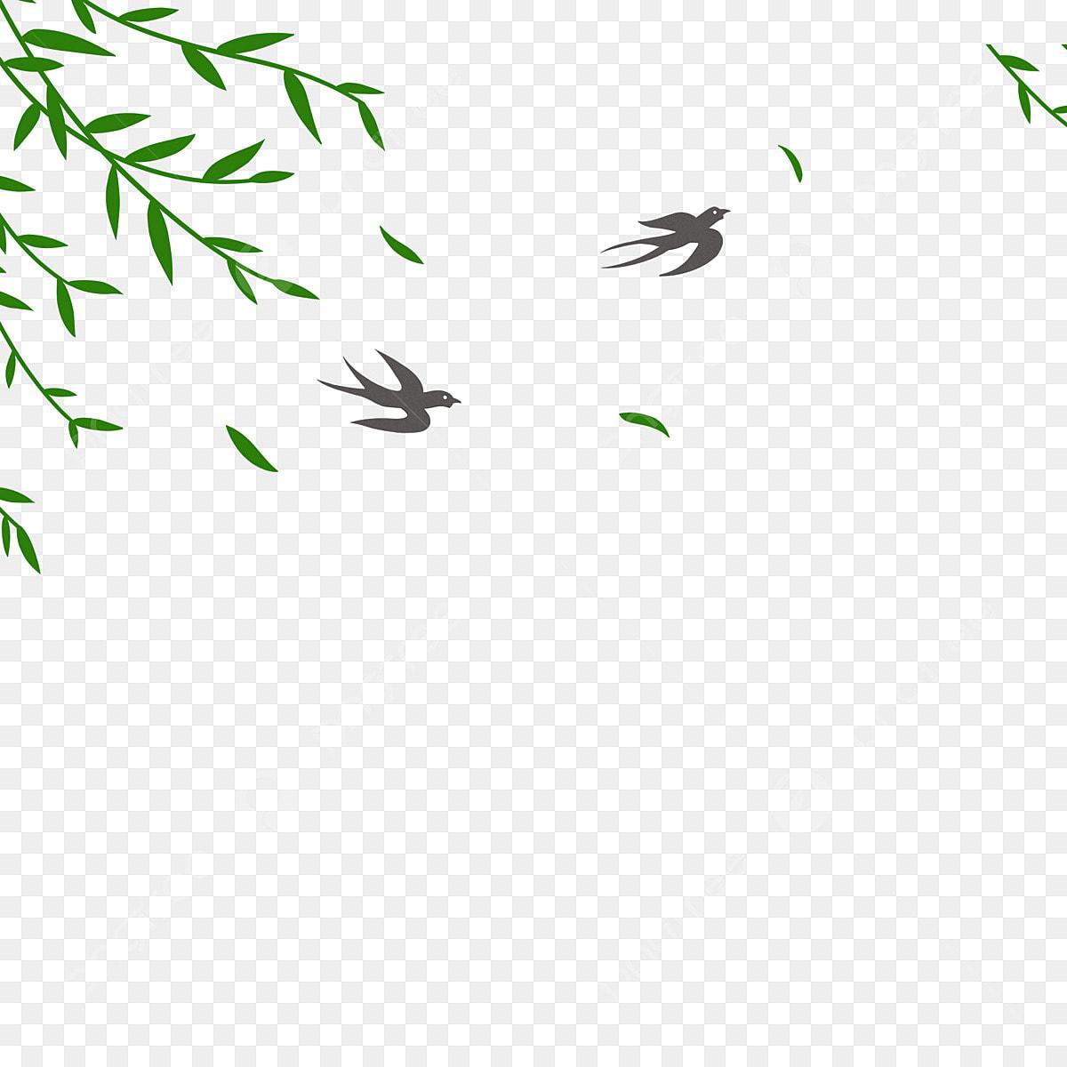 Feuilles De Dessin Anime Feuilles De Saule Environnement Vert