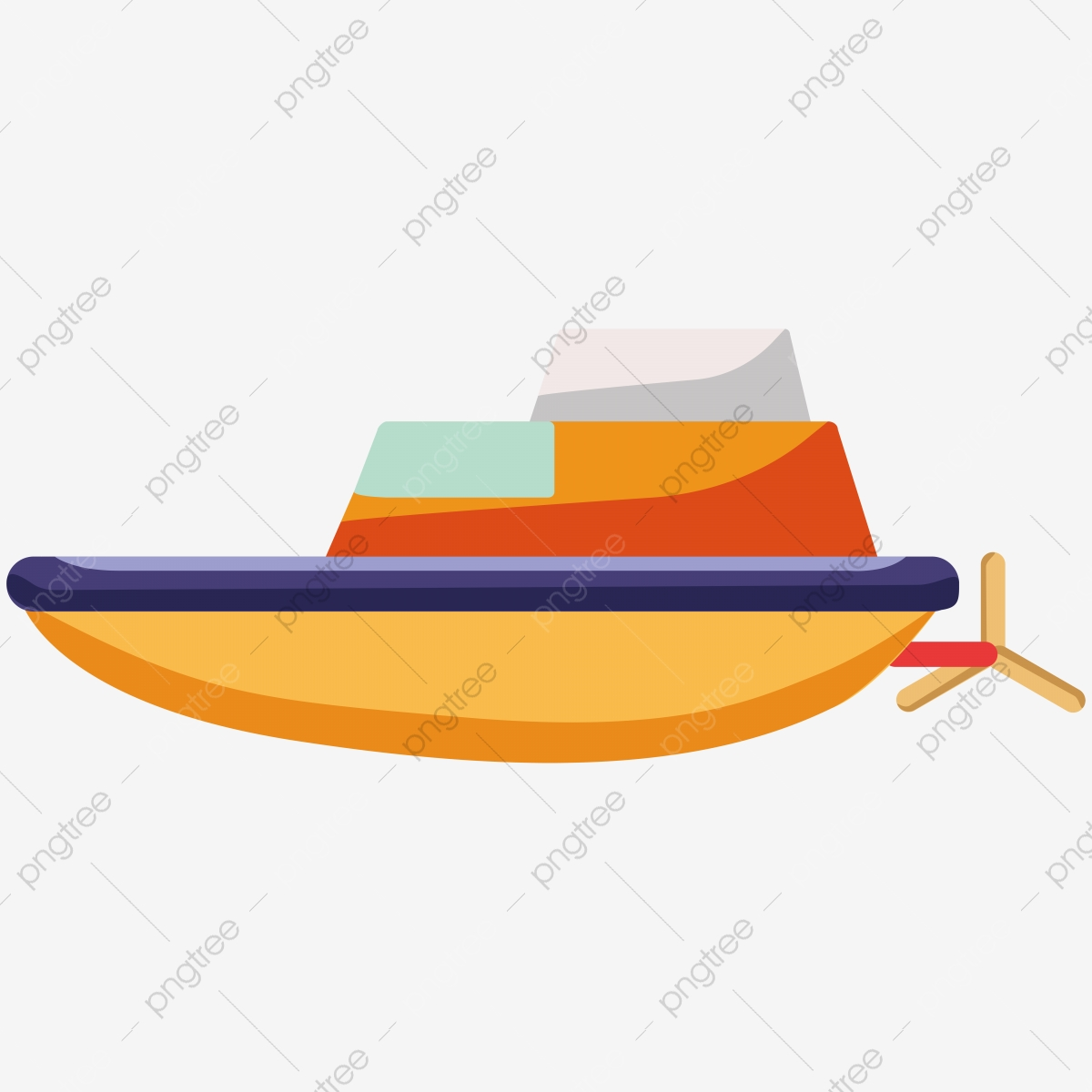 Hand Drawn Cartoon Boat Illustration Hand Drawn Cartoon Boat Png And Vector With Transparent Background For Free Download
