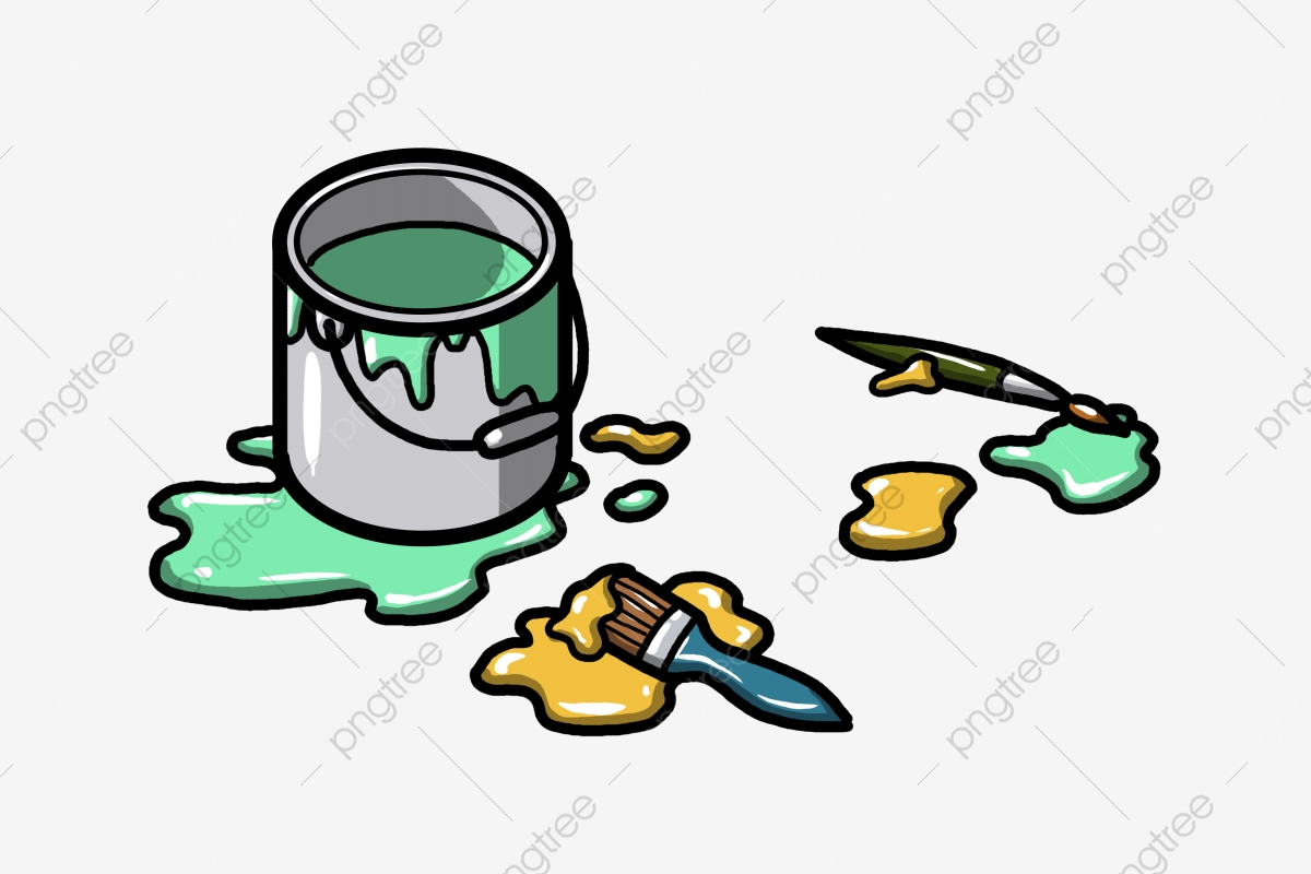 Hand Drawn Green Paint Bucket Illustration Hand Drawn Green Paint Bucket Illustration Png Transparent Clipart Image And Psd File For Free Download