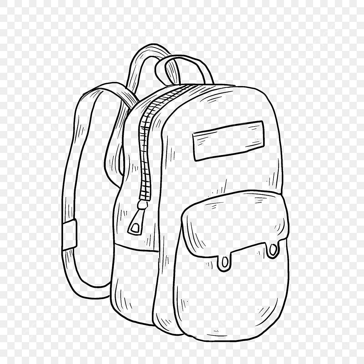 Gambar Lukisan Tangan Garisan Beg Sekolah Ilustrasi Beg Pelajar Ilustrasi Kartun Yang Png Dan Psd Untuk Muat Turun Percuma