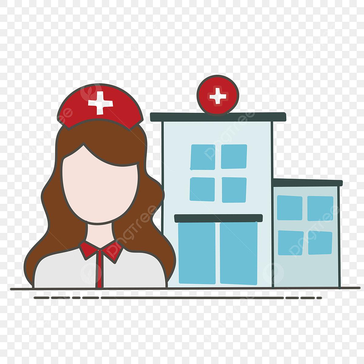Hospital Privado Salud Pública Ilustración De Dibujos