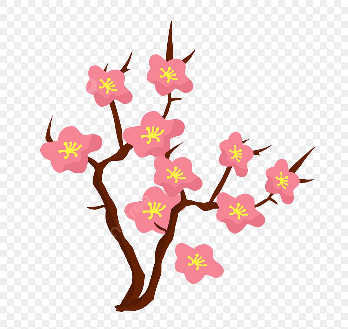 Plante De Dessin Anime De Fleurs De Cerisier Japonais Clipart Fleur De Cerisier Plante Fleur De Cerisier Fichier Png Et Psd Pour Le Telechargement Libre