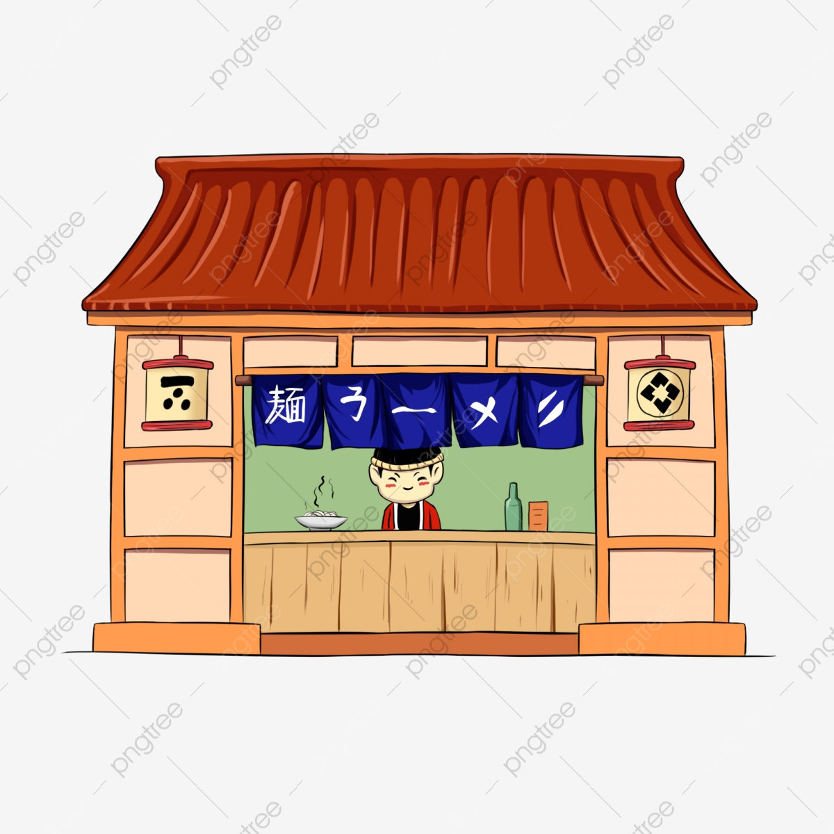 Japanese Ramen Noodle Decoration Illustration Japanese Ramen Noodle Restaurant Yellow House Beautiful Ramen Noodle Restaurant Png Transparent Clipart Image And Psd File For Free Download