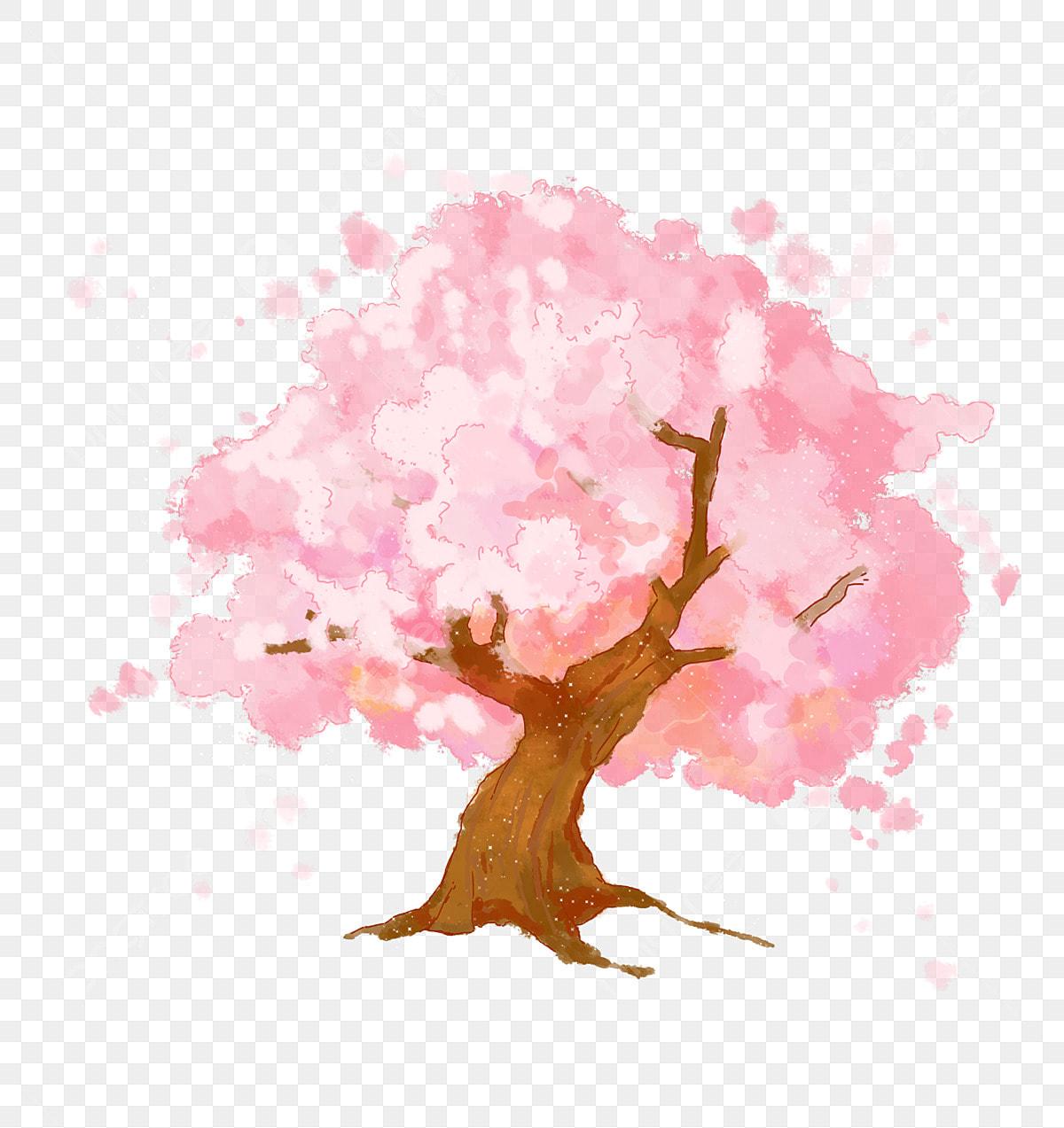 Arbol De Cerezo Japones cerezo japonés acuarela rosa, flor de cerezo, árbol de