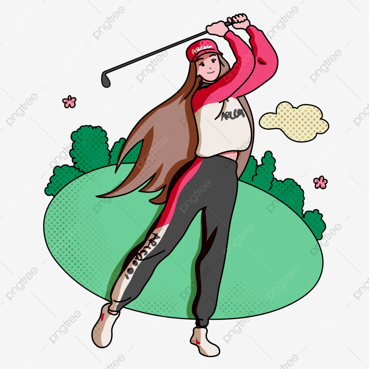 Free Lady Golfer Silhouette, Download Free Clip Art, Free Clip Art on  Clipart Library