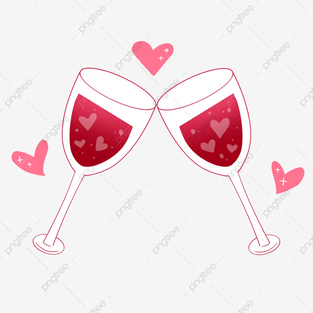 Love S Toast Red Wine Illustration Love Wine Cartoon Illustration Wine Illustration Png Transparent Clipart Image And Psd File For Free Download