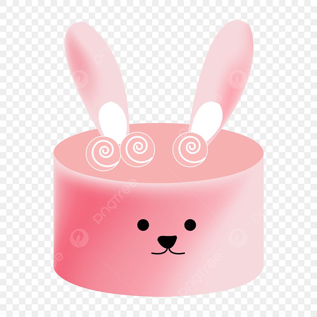 Enjoyable Pink Bunny Birthday Cake Birthday Cake Sweets Celebration Png Personalised Birthday Cards Veneteletsinfo