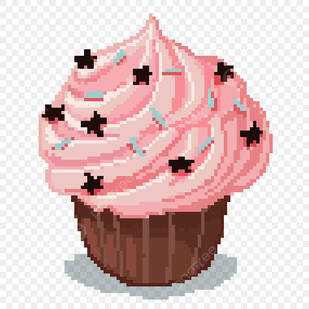 Peinture Au Pixel Crème Gâteau Peinture à Peinture Au