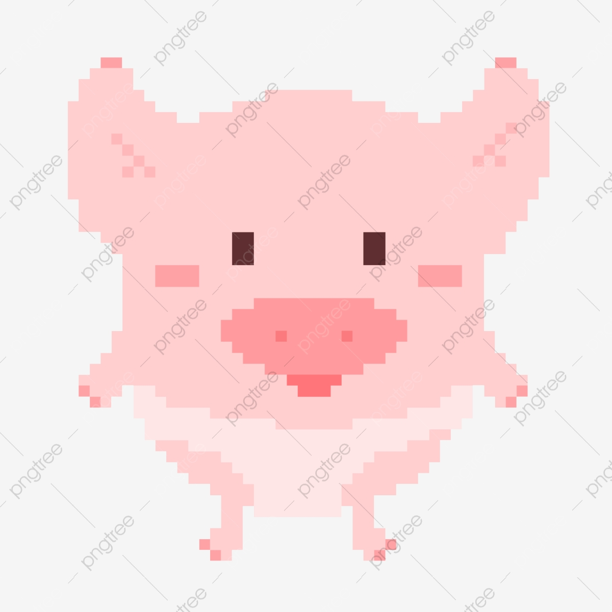 Cochon Mignon Animal Peinture Au Pixel Animal Cochon