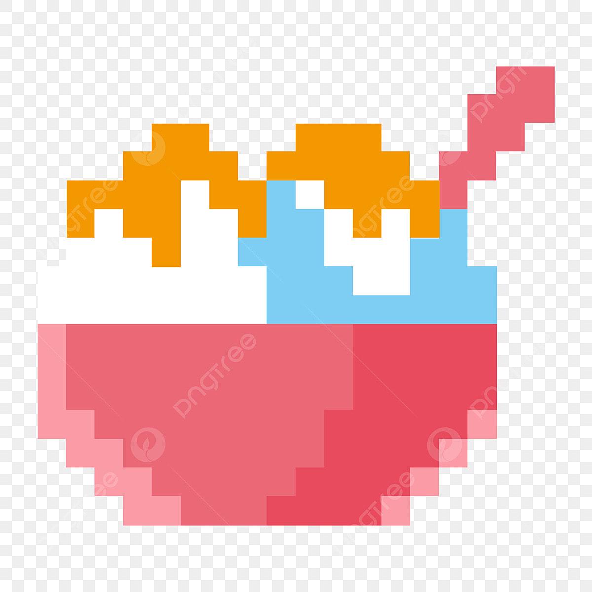 Sable Sable Rouge Glace Glace Pixels Glace Belle Décoration