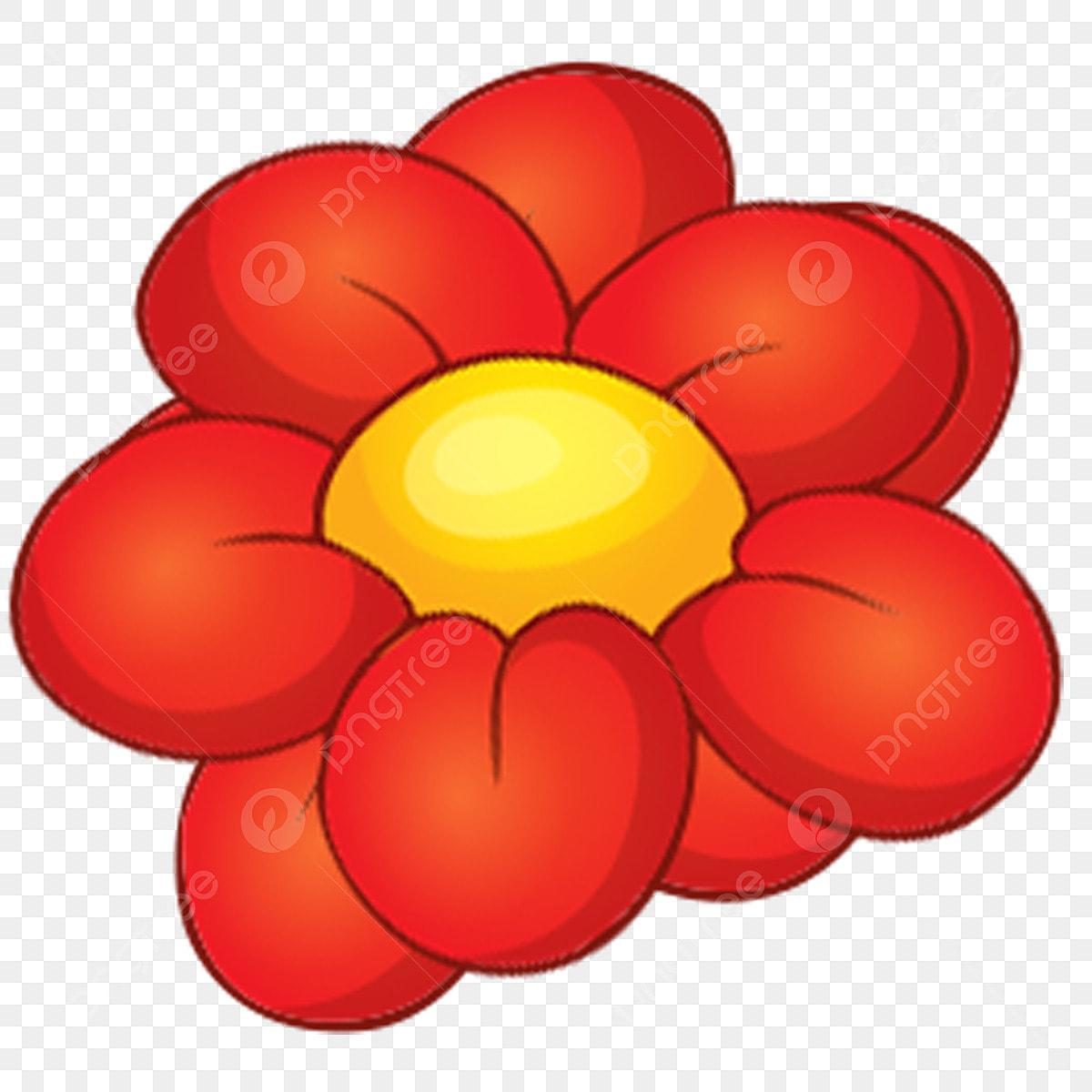 Dessin Anime Fleur Illustration De Boucle Libre De Fleurs Rouges