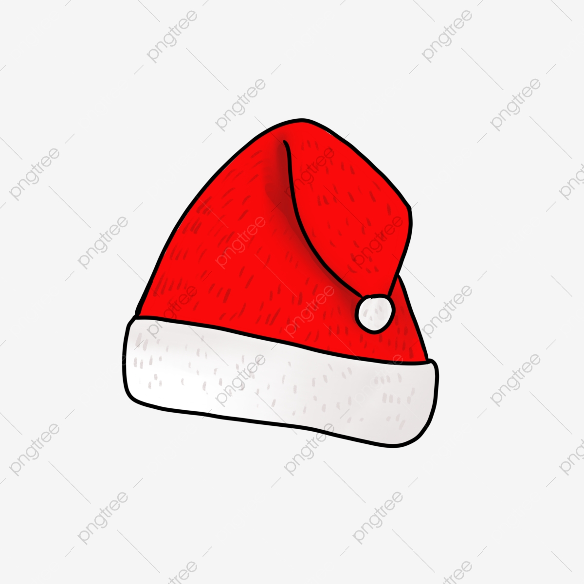 Christmas Hat Drawing Png.Red Christmas Hat Illustration Red Santa Hat Beautiful