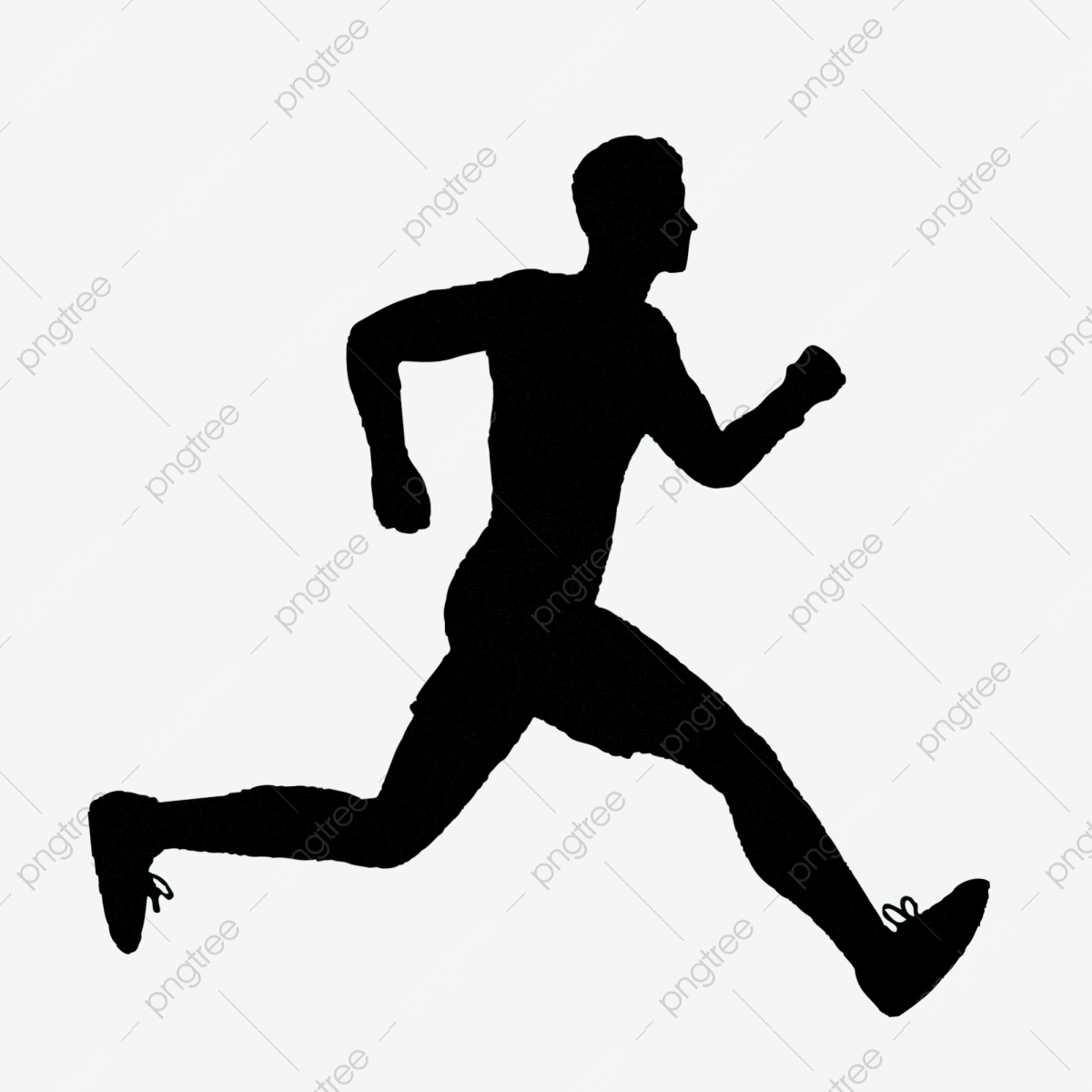 Running Man Silhouette Free Buckle, Morning Exercise Punch ...