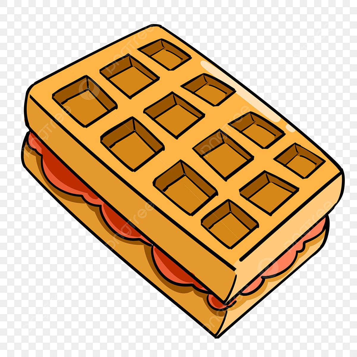 Sandwich Waffle Cookie Illustration Sandwich Biscuits Waffles