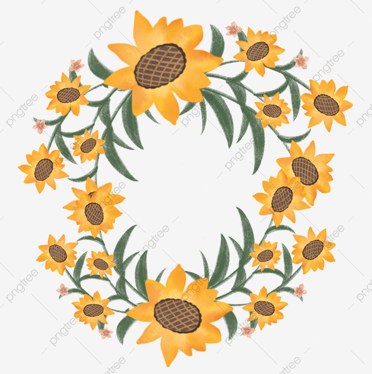 Sunflower Wreath Png Images Vector And Psd Files Free Download On Pngtree