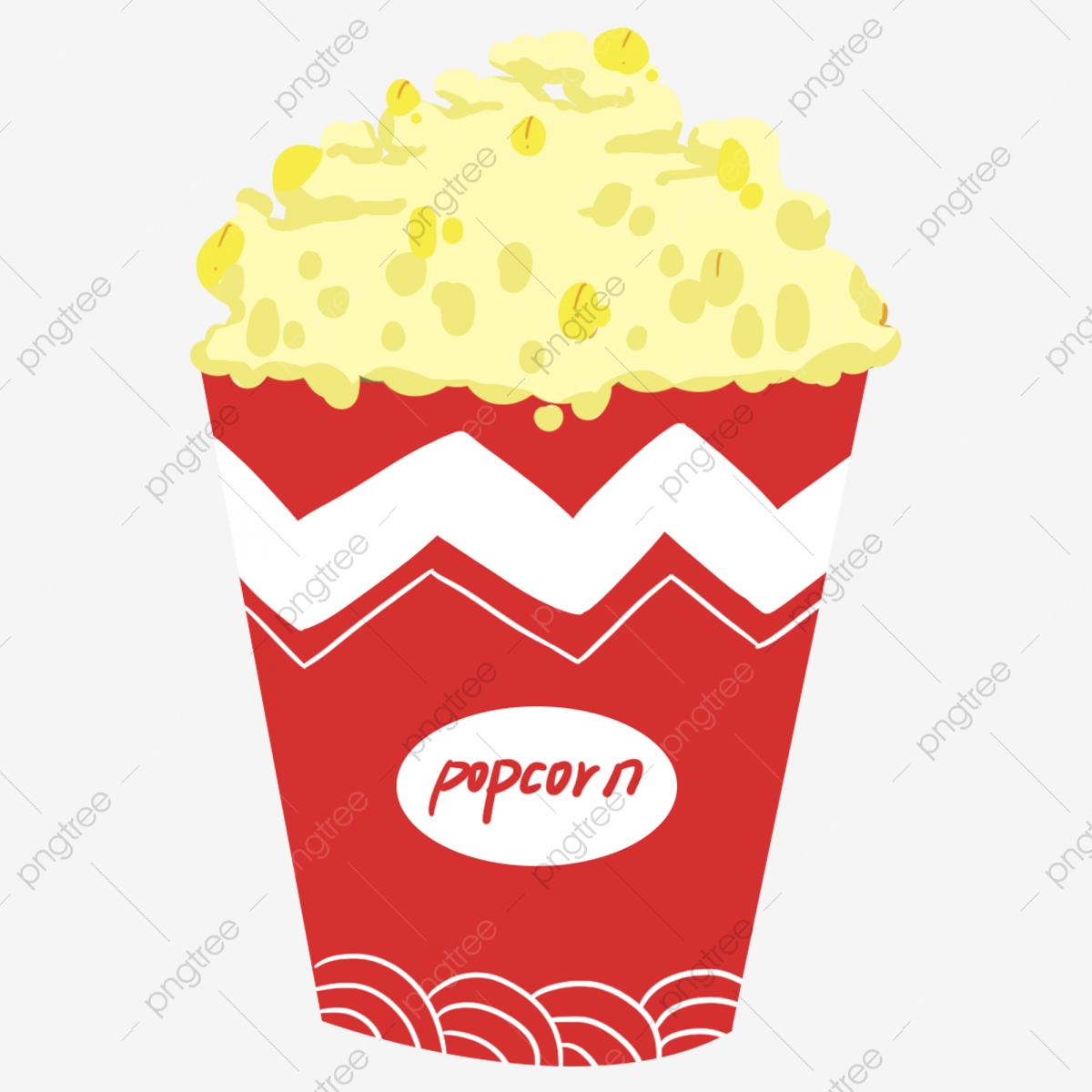 Snacks Popcorn Food Snack Food A Bucket Of Popcorn Illustration Red Packaging Popcorn Imagem Png E Psd Para Download Gratuito
