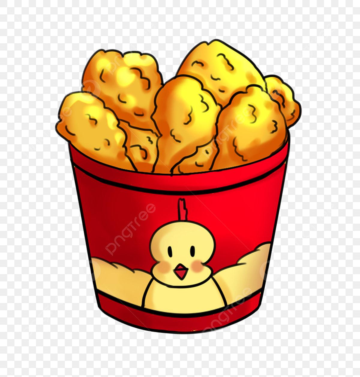 Makanan Ayam Goreng Makanan Ringan Snek Makanan Kartun Goreng